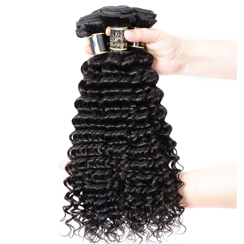 Sunlight Human Hair Indian Curly Hair 100% Remy Human Hair Weave 1 Bundle Natural Hair Extensions Can Be Dyed And Bleached(China (Mainland))