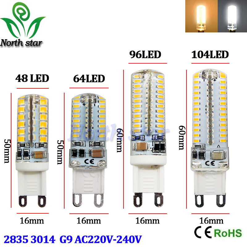 2016 new LED Bulb SMD 2835 3014 LED G4 G9 LED lamp 7W 9W 10W 12W Corn Light AC220V 360 Degree Replace Halogen Lamp free shipping(China (Mainland))