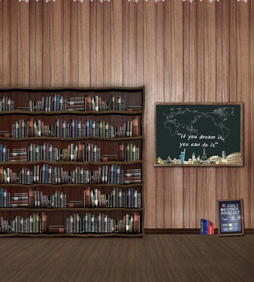 10*20feet(300*600CM) Photography Background Bookshelf blackboard map studio backdrops Free Shipping <br><br>Aliexpress