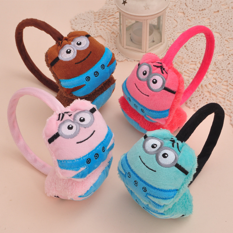 2015 New Arrival Rushed Girls Character Protetor De Ouvido Inverno Earmuff Earrings Children Warm Winter Cartoon Small Ear Muffs(China (Mainland))