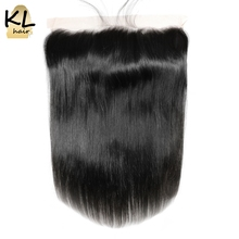Buy KL Hair Free Part 13x4 Ear Ear Lace Frontal Closure Straight Baby Hair Brazilian Human Remy Hair Closure Bleached Knots for $44.33 in AliExpress store