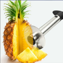 Hot Sale Easy Kitchen Tool Stainless Steel Fruit Pineapple Corer Slicer Cutter Peeler(China (Mainland))
