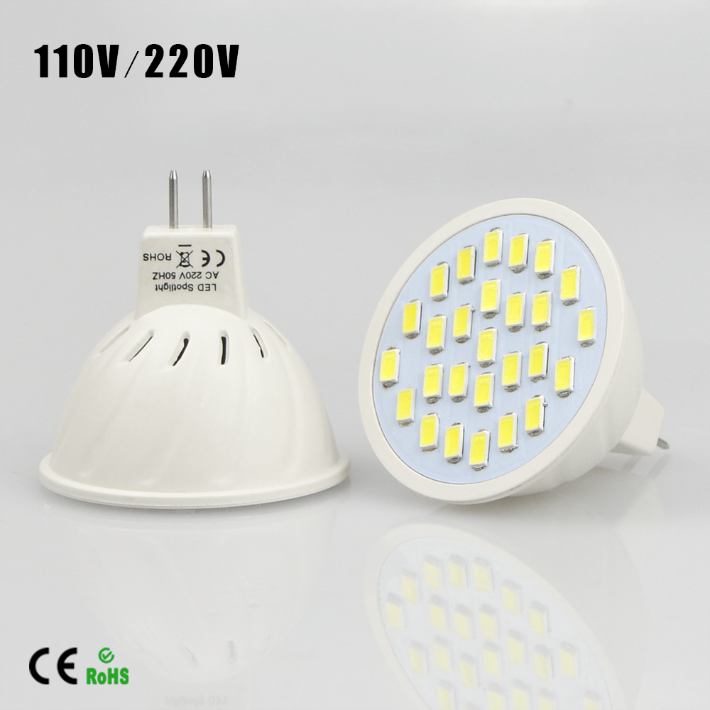 MR16 5730 LED Chip Spotlight bulb 220V 110V Lampada LED Replace Halogen Incandescent bulbs For Home Indoor downlight lighting(China (Mainland))