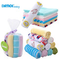 Colorful Single Small Square Towel Handkerchief 8 Peices Lot Soft Cute For Infant Kid Children Feeding