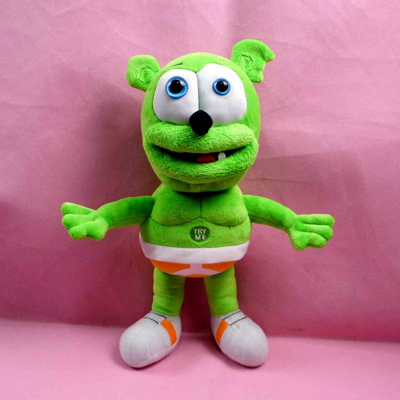 30cm Gummy Bear Plush Toy Electronic Pets Toys Can Sing I 'm your gummy bear Songs with 45seconds