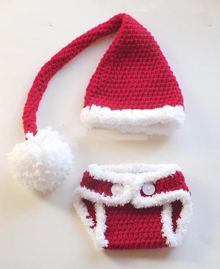Free Crochet Pattern For Santa Hat And Diaper Cover Pakbit For