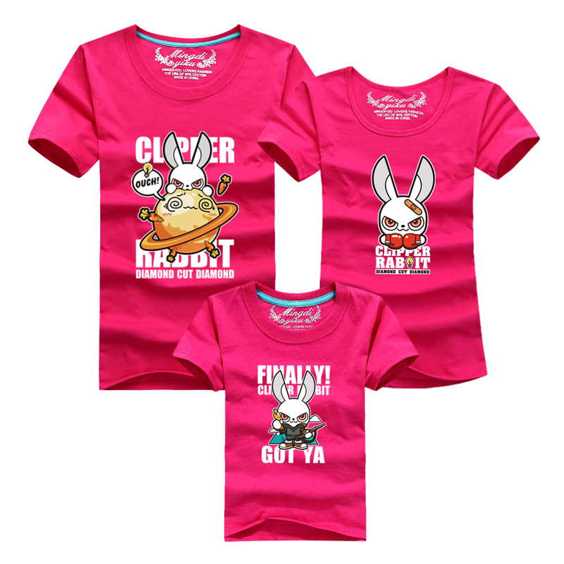 Summer font b Family b font Look font b Matching b font Clothing Tops Cartoon T