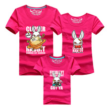 Summer Family Look Matching Clothing Tops Cartoon T Shirt For Mother Daughter Father Son Matching Family Outfits Plus Size
