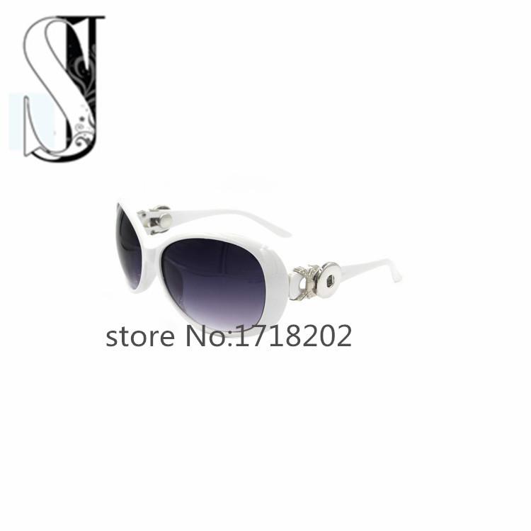 Women's Vintage Designer White Snap Button Sunglasses Outdoor Travel Retro Sunglasses for Women 2015 Sun Glasses Female SJSB372(China (Mainland))