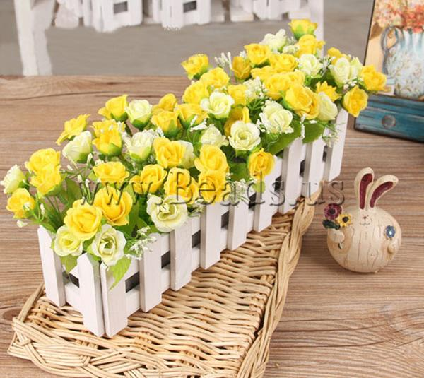 Free shipping!!!Artificial Flower Home Decoration,Jewelry 2013 Fashion, Cloth, with Wood, yellow, 300x200mm, 3PCs/Lot<br><br>Aliexpress