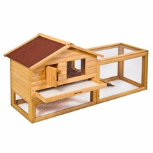 "62"" Backyard Wooden Rabbit Hutch Chicken Coop House Bunny Hen Pet Animal Run Free Shipping PS5737(China (Mainland))"