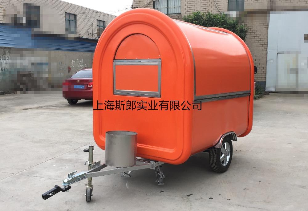 Orange Food Trailer Food cooking van/Food Van Takeaway Trailer mobile food cart price(China (Mainland))