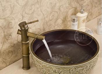Бесплатная доставка! высокое качество античная латунь бассейна кран одной однорычажный ванной смеситель смесители H-611