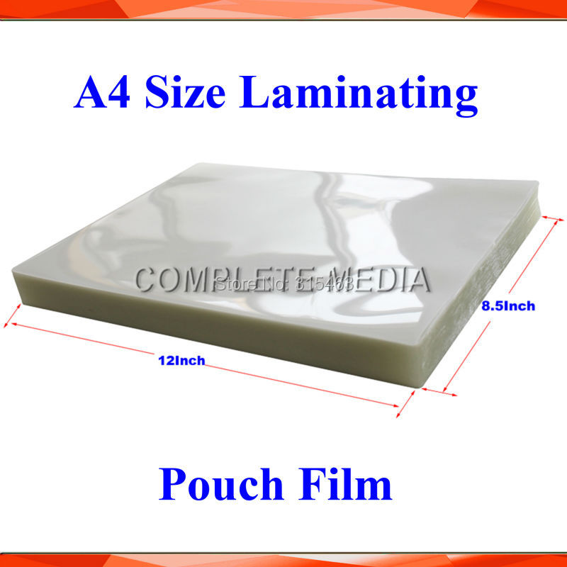 New 20 Sheets 100mic 4mil A4 Size Pvc Clear Glossy 2flap