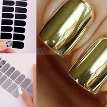 3 Boxes Smooth Nail Art Beauty Sticker Patch Foils Armour Wraps Decoration Decal Black Silver Gold Free Shipping