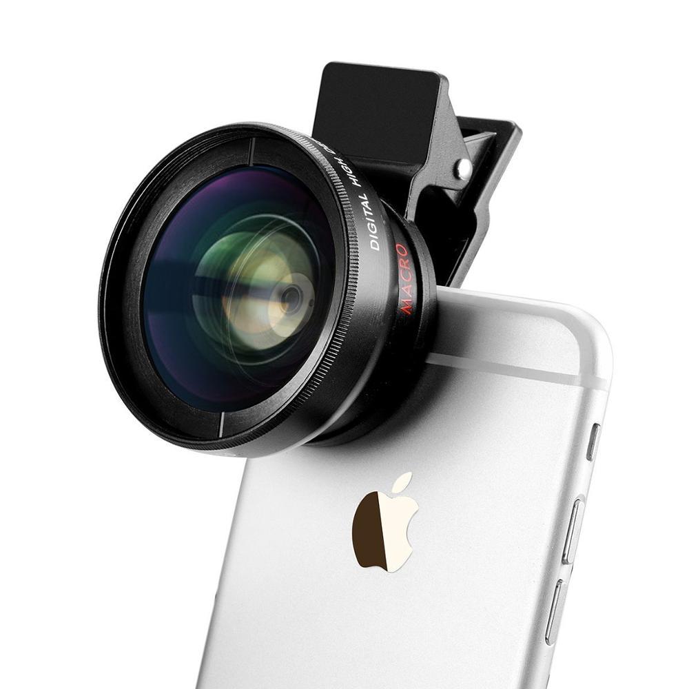 Universal Professional Camera 0.45x Super Wide Angle Lens+12.5x Super Macro Phone Lens Kit For Samsung S5 Neo S4 MINI Edge NOTE(China (Mainland))