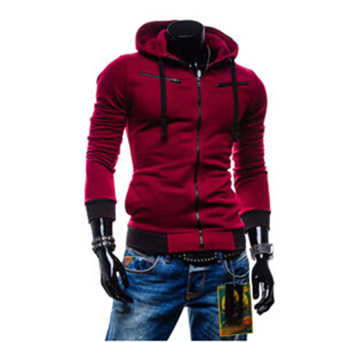 Free Shipping!New Arrival 2015 Autumn Zipper Hooded Men's Hoodies Sweatshirts,Fashion Casual Slim Fit Men's Jackets,Plus Size(China (Mainland))