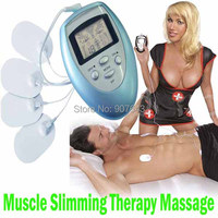 Electric Body Care Herapy Slimming Massager Pulse Muscle Pain fitness Relief Fat Burn Relaxation Arm leg Waist Massage Pads Free