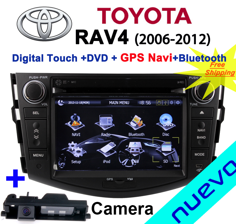 Car Head Unit Sat Nav DVD Player for Toyota RAV4 2006 - 2012 with GPS Navigation Radio TV Stereo System+Camera back&Free ship(China (Mainland))