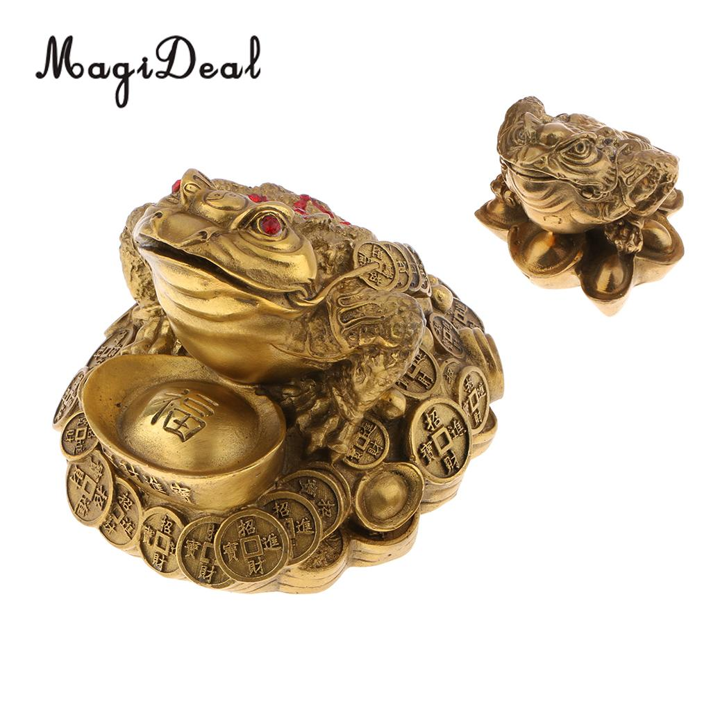 Classical Feng Shui Money Fortune Wealth Chinese for Frog Toad Coin Tabletop Ornaments Lucky Gifts