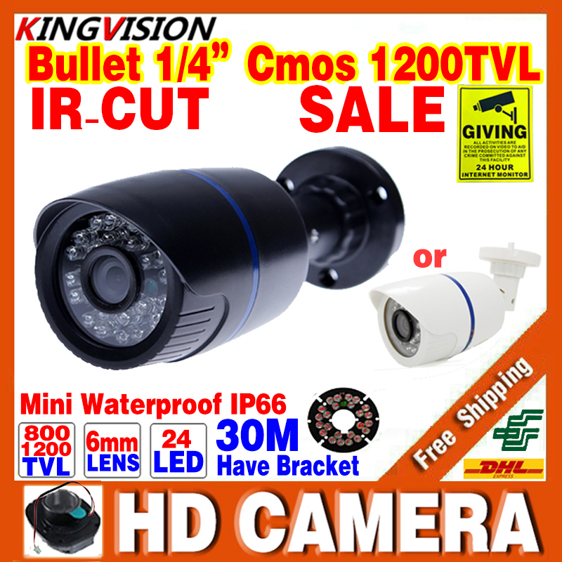 Free Shipping 800/1200TVL 1/3cmos HD Outdoor IP66 Waterproof CCTV Security Mini Camera 24LED IRCUT Night Vision 30m Colour Cheap<br><br>Aliexpress