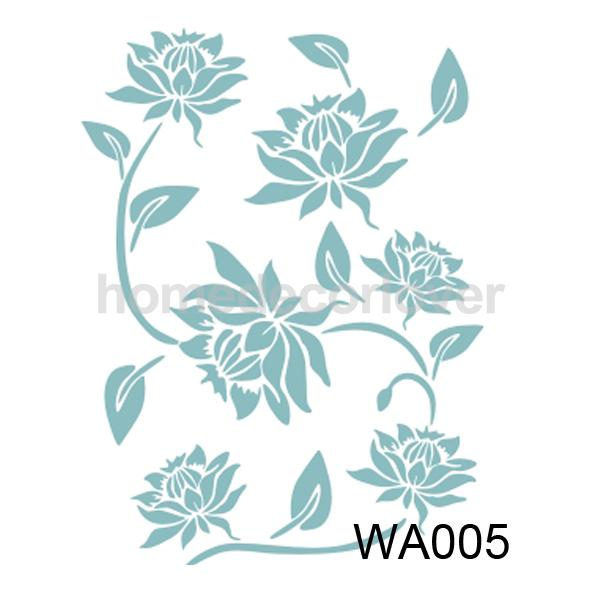 Flower Leaf Pattern Wall Painting Stencil Pattern Home Art Decor(China (Mainland))