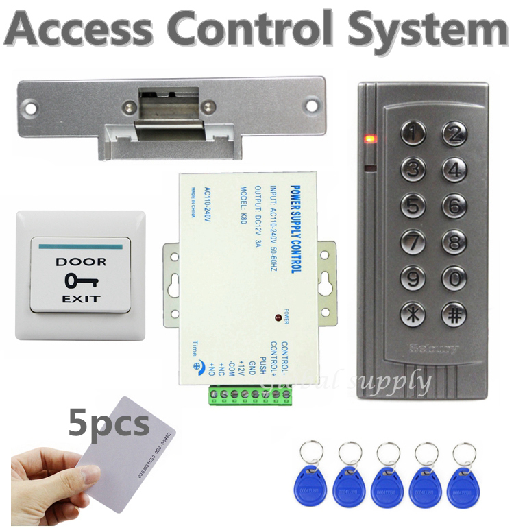 k4 diy 125khz rfid em reader door access control system kit door lock elect. Black Bedroom Furniture Sets. Home Design Ideas