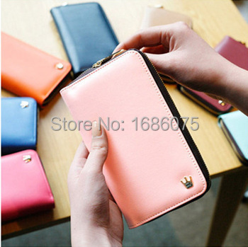 Hot Sell New Crown Cell phone Case Card Holder Coin Purse Wallet Cell Phone store Phone package(China (Mainland))