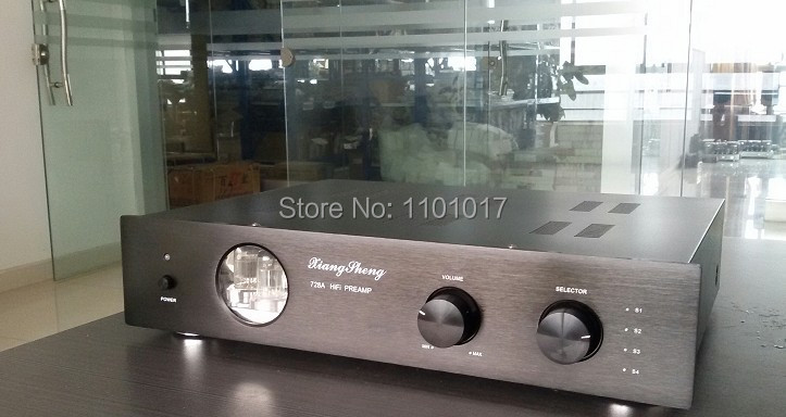 XiangSheng new version 728A Vacuum Tube PreAmplifier HIFI EXQUIS 12AT7 12AU7 6Z4 pre amps without tone control(China (Mainland))