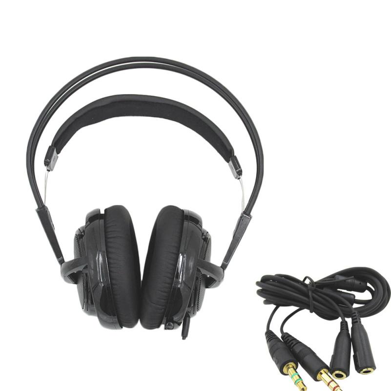 black Headset New Headphones Steelseries Siberia V2 Brand Noise Isolating Game Headphones For Headphone Gamer + Extension cord(China (Mainland))