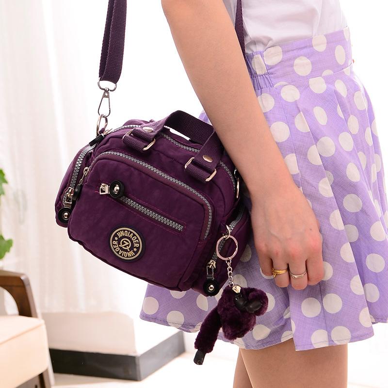 2016 New Waterproof Nylon Shoulder Bag Messenger Bag Fashion Women Handbags Factory Outlets(China (Mainland))