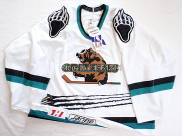 new style customized hockey jerseys Denver Utah Grizzlies personalized custom your name number,mix order ,sewn logos and names<br><br>Aliexpress