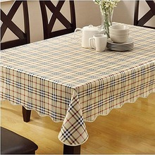 Home Waterproof PVC Tablecloth Oilproof non Washable Plastic Pad Anti Hot Coffee Tablecloth 152x106cm(China (Mainland))