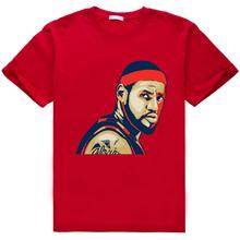 2016 design brand LeBron James MVP Champion Summer Men's Cotton Short Sleeve T-shirt Fashion Casual Tee shirt 3D digital AW1108