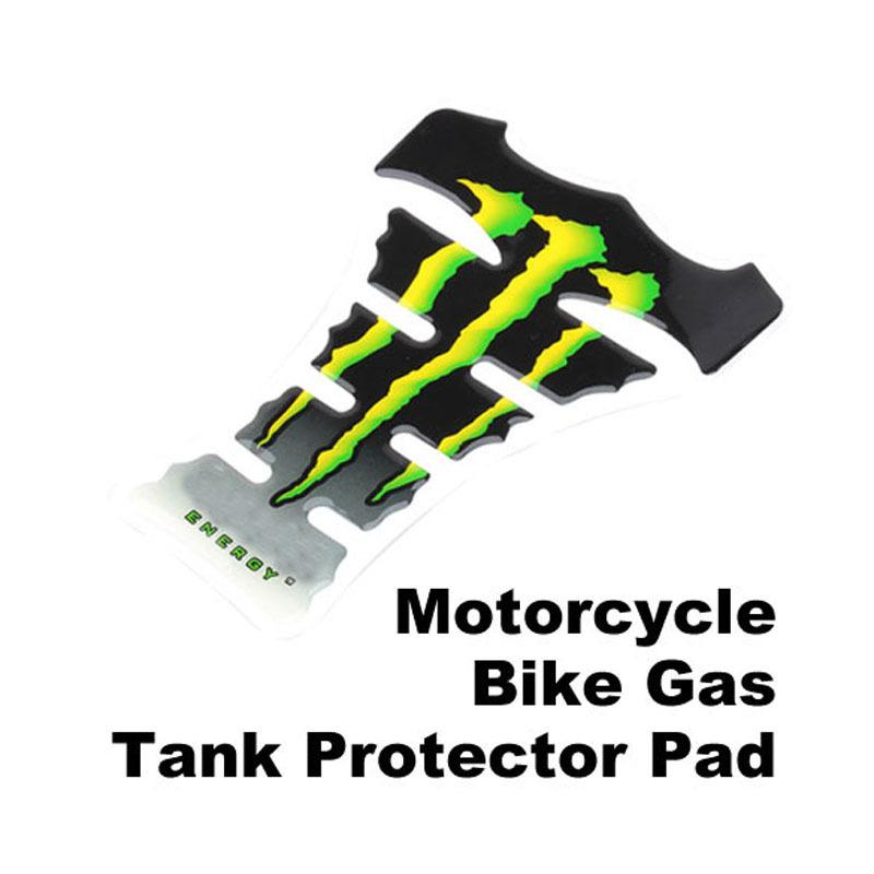 Green Carbon Fiber New Motorcycle Tank Pad Sticker J NVIE(China (Mainland))