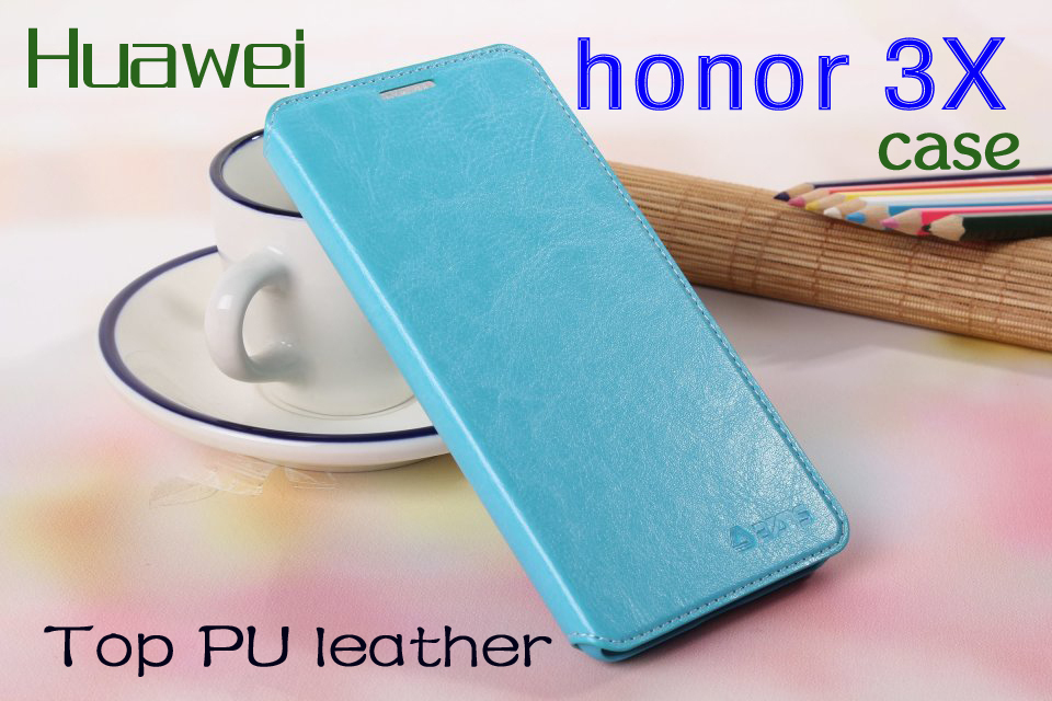 Hot sale huawei honor 3X G750 cases phone leather honor 3 XG 750 cell phones protective sleeve for men and women fashion models(China (Mainland))