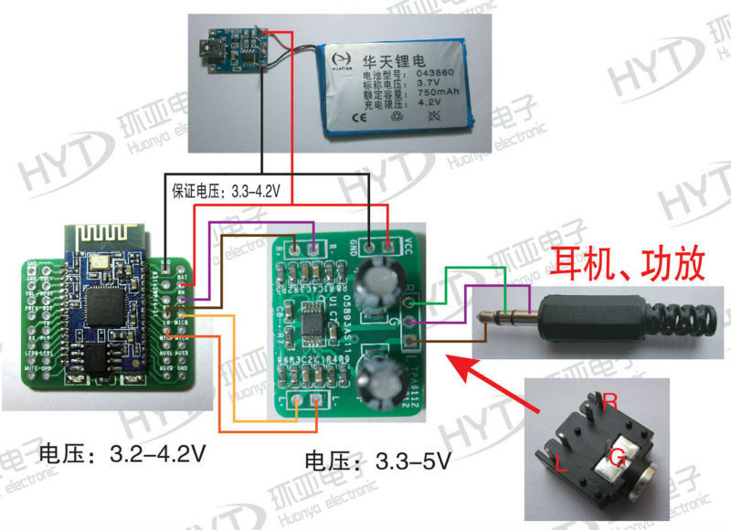 bk8000l welding adapter bluetooth 2 1 audio module support at based bk8000l simple bluetooth stereo ht6872 2x4Ω3w 5v power supply mode wiring diagram