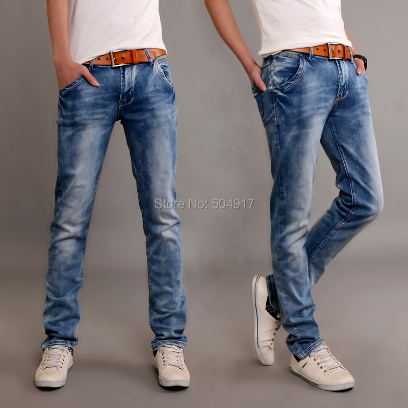 Free shipping Elastic 2015 Autumn and Winter pants menu0026#39;s male clothing male denim jeans light ...