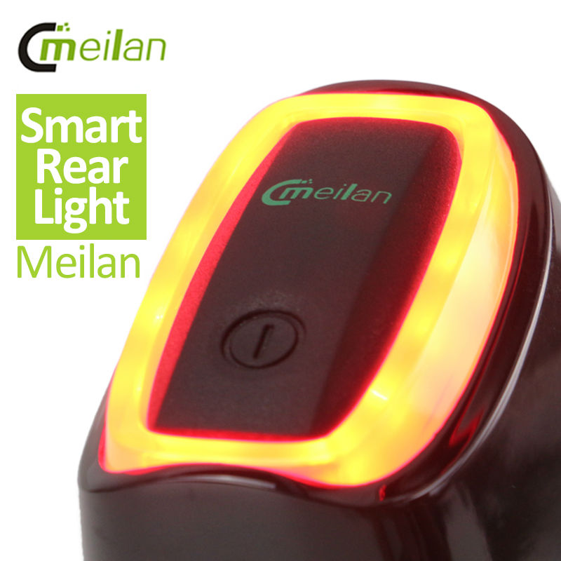 Meilan Smart Bicycle Rear Light Bike Tail LED Light Shock And Daylight Sensor switch 7 Flash Model USB Bicycle Accessories(China (Mainland))