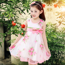 Girls Summer casual folral lace dress Children's Clothing  Girls Fashion Princess Dress teenage girl  8-13 age red clothes baby