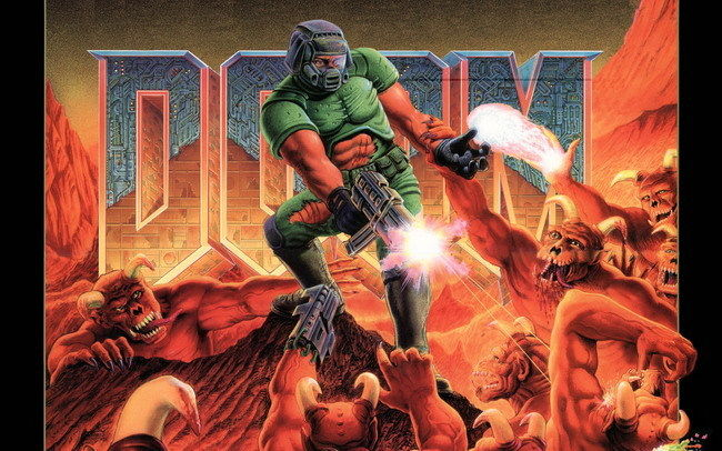 "008 Doom - First Person Shooter Video Game 22""x14"" Poster OP154(China (Mainland))"