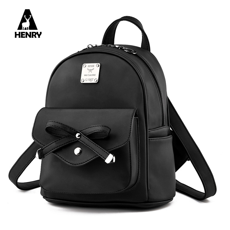 2016 Real Luxury Brand Women Backpack Bow Design Shoulder Bag Fashion Element School Bags Simply Style Travel Female Back Pack(China (Mainland))