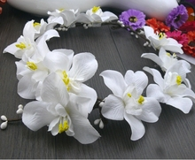 White Flower Wreath Girls headband