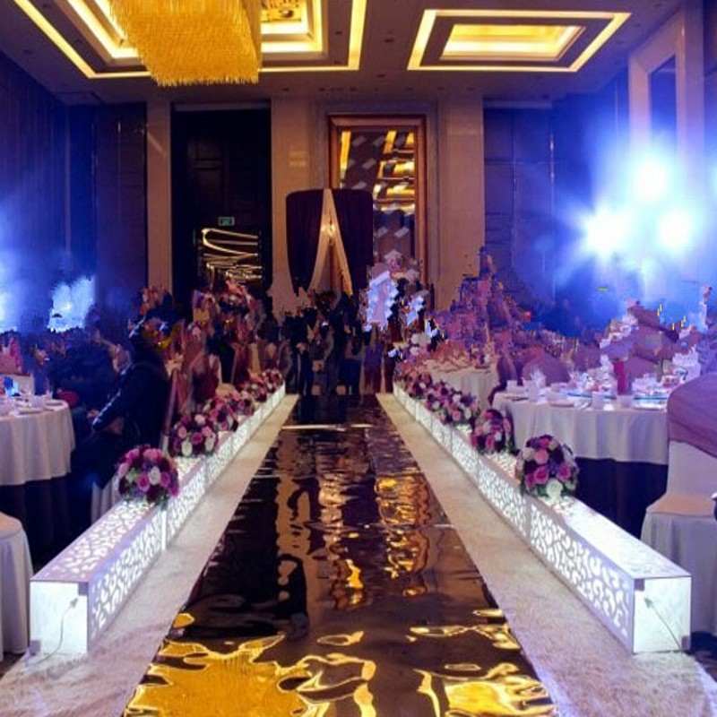 Здесь можно купить  10m/roll Luxury Wedding Centerpieces Gold Silver Double Side Aisle Runner Mirror Carpets For Wedding T Station Decorations  Дом и Сад