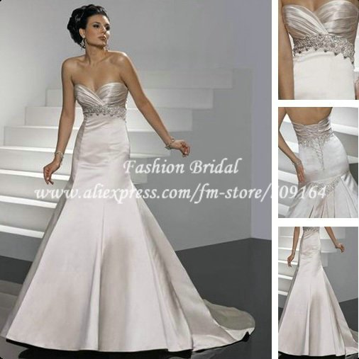 Hot Sale A Line Sweetheart Affordable Gold Wedding Dresses Champagne Colour BM483