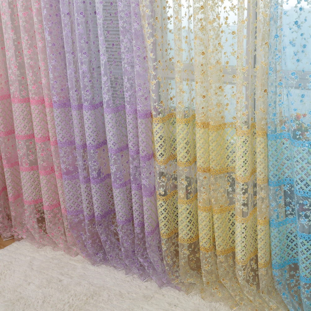 Modern window curtain printed tulle fabric for curtains for Living room curtain fabric