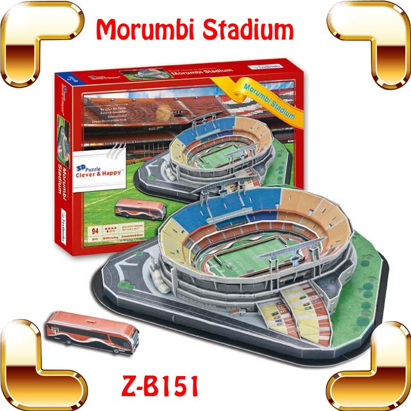 Free Shipping Z-B151 Brazil Sao Paulo Futebol Clube Morumbi Stadium 3D Puzzle DIY Construction Model World Cup Stadium Puzzle<br><br>Aliexpress