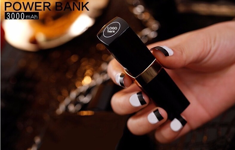 2016 Hot Sale!CC Lipstick Portable Charger 3000 mAh backup power External Battery for iPhone Android phones free delivery