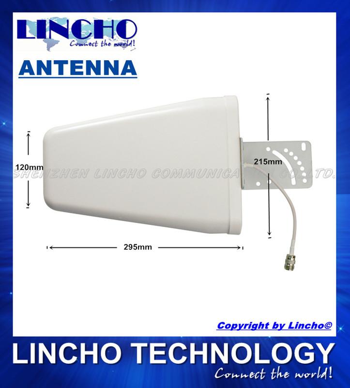 cheap full band Log periodic antenna 800-2500MHz 9DB antenna 3G GSM repeater lpda antenna(China (Mainland))