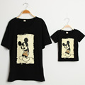 family matching clothes cartoon t shirt for mom dad duaghter and son match shirt summer clothes